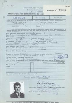 My beautiful Dad went to Rome on 24th April, 1962 to apply for migration to Melbourne, Australia. He was only 19yrs old.