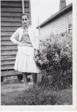 My beautiful Mum living in Station Street, Fairfield. It's 1959 and she is only 15 years old.