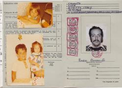 Dad's International Driving Permit which he had gotten before our trip. He kept a photo of us three inside it.