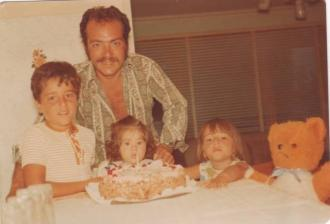 I love this photo of my sister Linda turning 1. Mum and Dad would always organise a special cake for us.