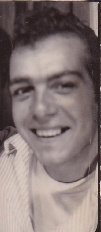 A photo of my beautiful Dad taken in the Vanity Arcade photo booth in early 1965.