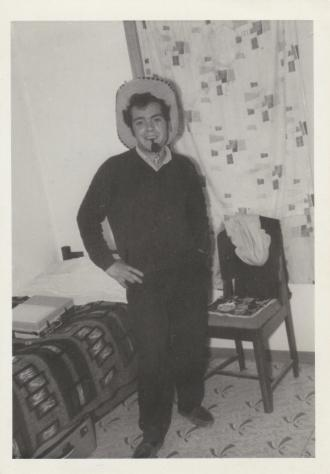 A precious photo of my Dad when he first arrived in Australia in May,1962 and living in George Street, Dandenong.