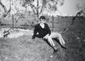 A photo of Dad as a teenager which my Luke loves.