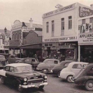 A precious image of Lonsdale Street, Dandenong from around 1959.