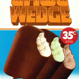 An early advertisement for Peters Choc Wedges when they were only 35c.