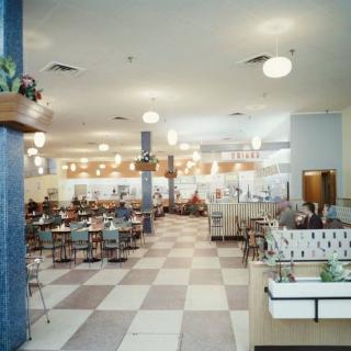 A memorable image I found of the Coles Variety Store Cafeteria in Lonsdale Street, Dandenong. You can just see the wooden ramp that we used to run down.