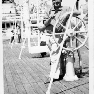 Dad on the ship in August 1962.