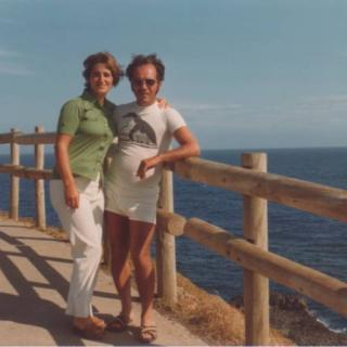 Mum and Dad sharing a precious moment on the Nobbies boardwalk, Phillip Island.