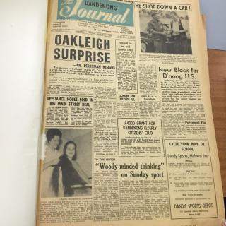 Mum and her beautiful long hair had hit the front page of 'The Dandenong Journal' on 9th January, 1963.