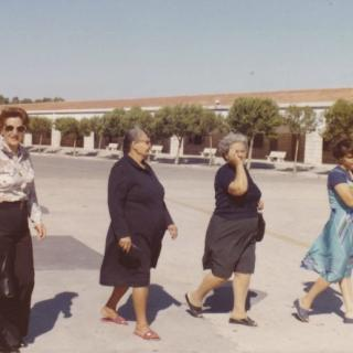 My Mum with Nonna Nunziata, Zia Santa and Zia Domenica. They are at Padre Pio, Foggia.