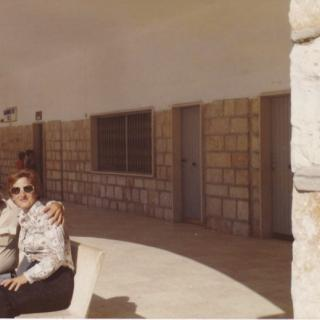 Dad admiring Mum at St Michele, Foggia. Dad loved this photo of them.