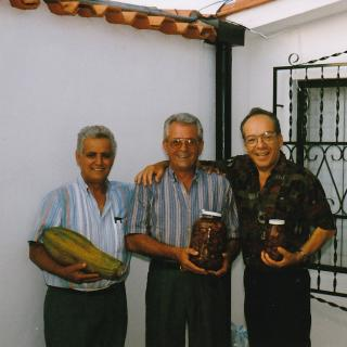 Dad with his friends, Luigi and Giuseppe holding Paw Paw's. He was so happy.