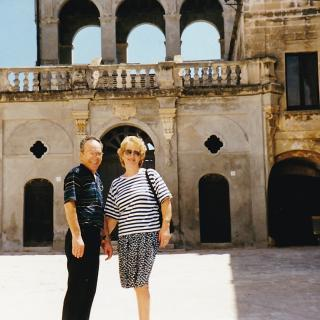 Mum and Dad exploring San Vito, Bari together.