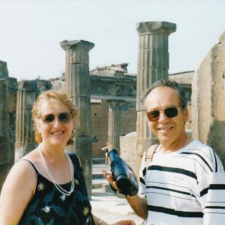 Mum and Dad enjoying the day in Pompei.