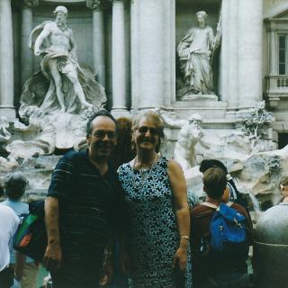 Dad and Mum at the Trevi Fountain in Rome. I wonder what they had wished for?