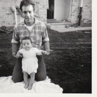My gorgeous Dad so proud of his son Frank who is only 6 mths old in this photo.