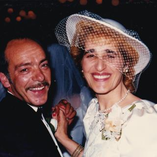 Dad and Mum were so proud and so happy on my Wedding Day. It's 1st April, 1989.