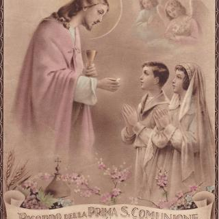 Mum received her first Holy Communion on 20th April 1952. Thankfully, she kept her certificate.