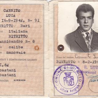 My beautiful Dad's ID card that he would have needed before coming to Australia and which he would have always kept in his wallet.