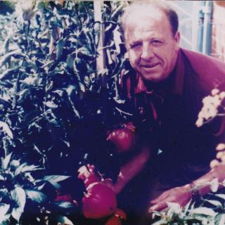 Dad loved his garden and was so proud of it.