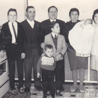 It's 28th July, 1968 and all the family are dressed up for Jimmy's Baptism Day.