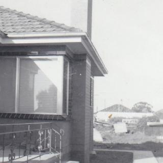 The side of the house in Morwell Avenue before Dad built the garage.