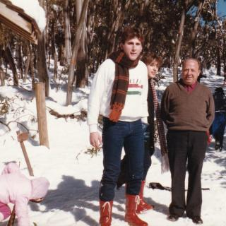 It's 1987 and this is a precious memory of Dad, Jim and I enjoying the day at Lake Mountain, Marysville.