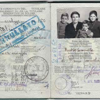 Mum looked beautiful on her 1st passport with Ellen, Sam and Frank. It's dated 4th April, 1963.