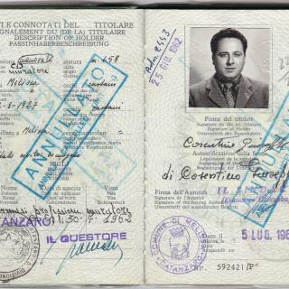 Dad's passport.
