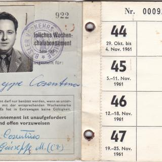 Dad's identification travel pass.