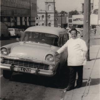 A precious photo of Dad when he was working in Walker Street, Dandenong.