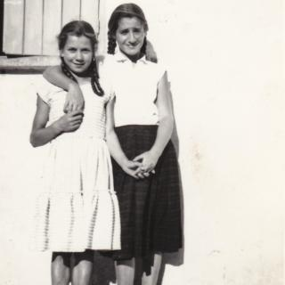 My adorable Mum was 13yrs old when this photo was taken of her and her cousin Maria.