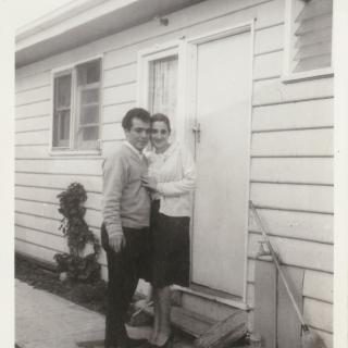 It's July 1965 and Dad came over to see Mum on her 21st Birthday.