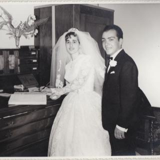Happily married on 18th December, 1965 at St Mary's Church Dandenong and Mum is signing her marriage certificate.