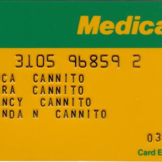 Our medicare card that Mum had kept for me.