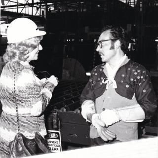 I just recently found out that the lady talking to my Dad in this photo is Lady Pilkington. She had come over from the UK with Lord Pilkington in 1973 to inspect the Dandenong Pilkington plant. What an honour.