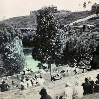 A earlier picture of the Fairfield Park pool.