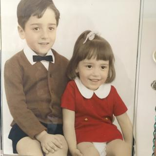 Dad and Mum took Frank and I to The Vanity Arcade Photo Studio for this precious picture of us on my 1st Birthday.