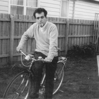 Dad looking handsome posing for Mum in her backyard. It's 1967 and also Mum's 21st Birthday. Xx