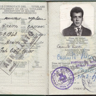 Dad's original passport dated March, 1962.